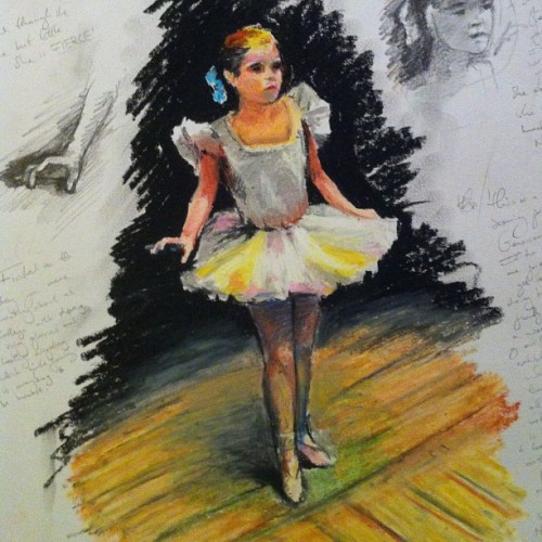 @genevieveaimee #art #impressionism #impressionist #drawing #dance #art #artist #paint #pastel #oilcolour #painting #girl