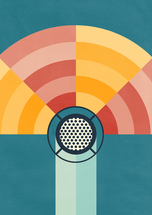 ben-newman-illustration:  BBC 90 Years of Radio Early Unused Test Design - The client went for a different design but I was really pleased with this image and thought it would be a shame for it to lurk in some folder buried on my computer. So here it is for your beautiful eyes. x