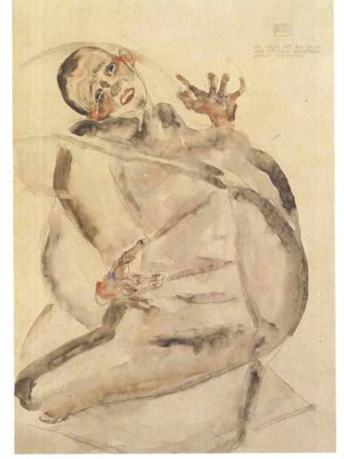 Egon Schiele- Self Portrait as a Prisoner (1912)