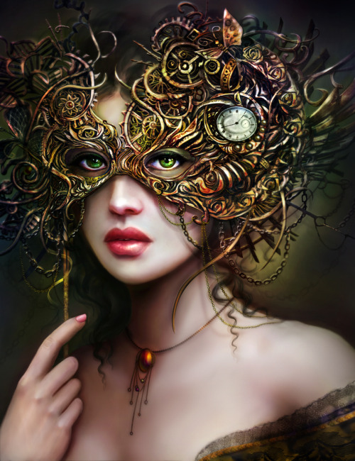 artmonia:  The Girl With Emerald Eyes by Brooke Gillette.