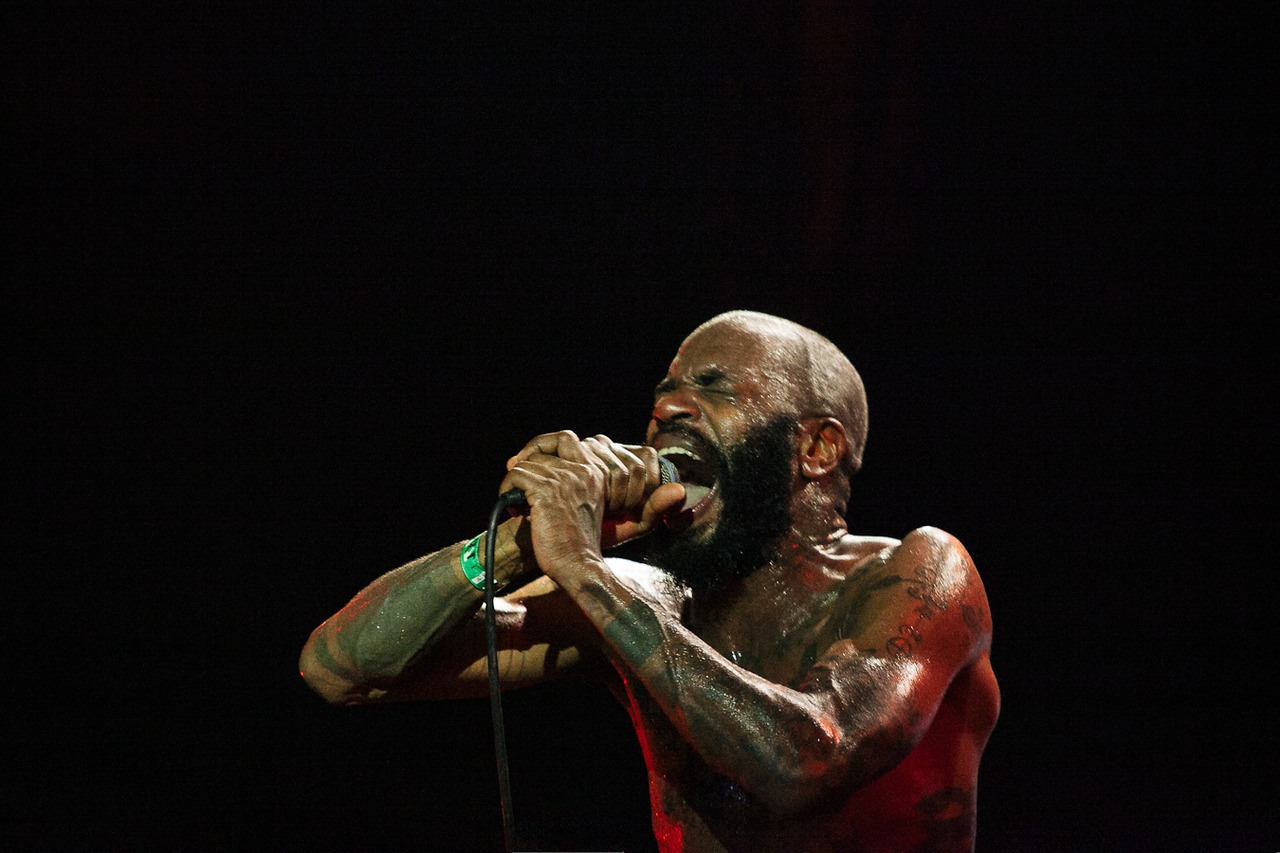 Hardest show I've ever shot. Death Grips live last night at Slim's More coming soon