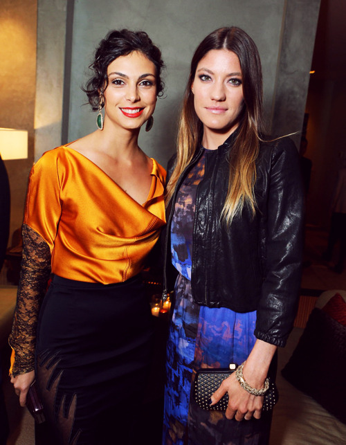 Morena Baccarin and Jennifer Carpenter at Showtime 7th Annual Holiday Soiree on December 3, 2012 in Beverly Hills, California.
