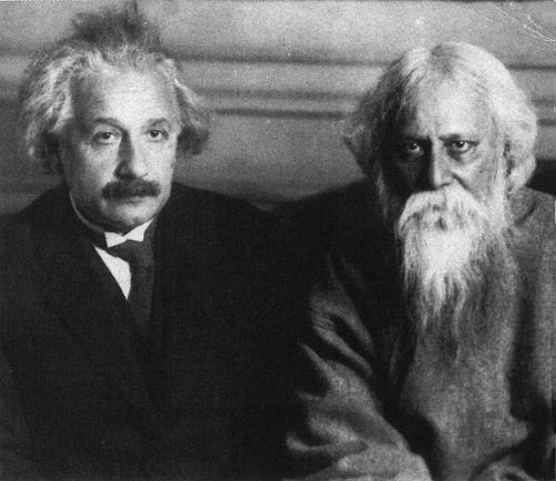 ikenbot:  When Einstein Met Tagore     Collision and convergence in Truth and Beauty at the intersection of science and spirituality      On July 14, 1930, Albert Einstein welcomed into his home on the outskirts of Berlin the Indian philosopher Rabindranath Tagore. The two proceeded to have one of the most stimulating, intellectually riveting conversations in history, exploring the age-old friction between science and religion. Science and the Indian Tradition: When Einstein Met Tagore recounts the historic encounter, amidst a broader discussion of the intellectual renaissance that swept India in the early twentieth century, germinating a curious osmosis of Indian traditions and secular Western scientific doctrine.      The following excerpt from one of Einstein and Tagore's conversations dances between previously examined definitions of science, beauty, consciousness, and philosophy in a masterful meditation on the most fundamental questions of human existence.      Continue to Excerpt Here