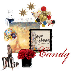 Happy Birthday Candy by h-h-linda-newell featuring gold diamond jewelry