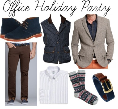 "Holiday parties are in full swing, and we want to help you dress right, no matter what the setting. Layer warm fabrics with fun textures to show your spirit in the office, even if you're really whispering ""bah humbug"" to yourself at your desk.   The Details »"