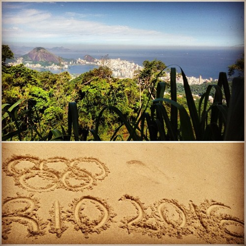 olympics:  Olympic Rings carved into the Rio beach! #rio2016