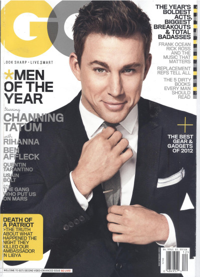 Ralph Lauren Black Label  Channing Tatum wearing Ralph Lauren Black Label on the cover of GQ.