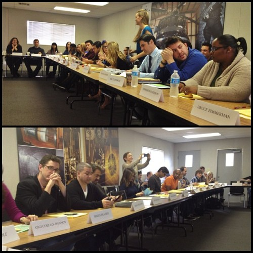 ‏@larryteng: #CriminalMinds Ep 8.14 read thru… Wish more shows would do this. Like the first day of school!