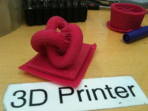 3D knot from the 3D printer! http://on.fb.me/WHFboA