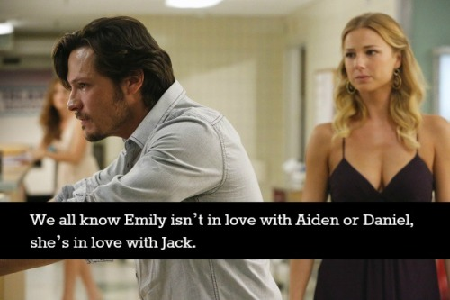 revengeconfessionsblog:  We all know Emily isn't in love with Aiden or Daniel, she's in love with Jack.