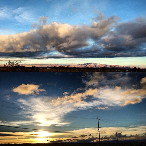 Before school today. #sky #clouds ⛅🙏