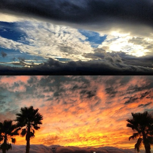 The #sky this afternoon and during the #sunset ⛅🌴