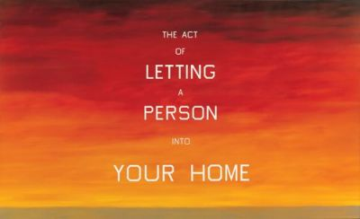 "Ed Ruscha, ""The Act of Letting a Person Into Your Home"", 1983. Image: whitney.org"