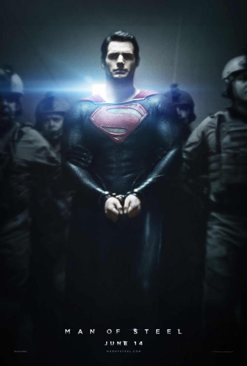 New Man of Steel poster!  Eeeeeeeeee!