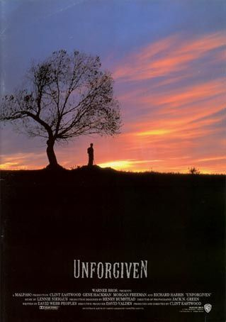 Unforgiven (1992) A film which Eastwood saluted to one of the early pioneers of the Western in the closing credits, Sergio Leone.