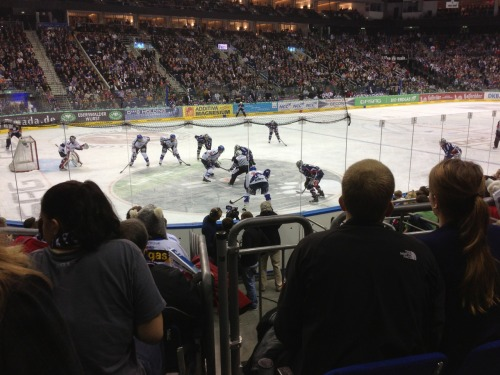 "I went to the Eisbären Berlin hockey game. It was pretty fantastic. They won. Danny Brière got an assist.  The atmosphere at the game was much, much better than in the NHL as the supporters club sings and claps and pounds drums for the entire game. I guess this is what develops when every fan can actually easily attend the game. Some other things about German league hockey that I noticed: - Commercial break is called a ""power break"" - Everyone gets paper fans which makes a clapping noise when you hit them against your hand or leg and it's much louder than regular clapping. - Folks whistle when they're mad at the ref. - Folks also whistle when the other team has a power play and is in their offensive zone. - Not a lot of hitting at all. - Almost no replays on the jumbotron - Maybe my view is skewed because as a Canucks fan I am used to watching the masters, but Eisbären doesn't cycle the puck effectively at all."