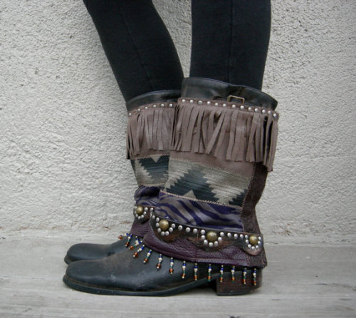 Dustie Indigo Moccasin Boot Cuffs… www.lotusrootscreations.etsy.com