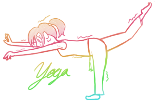 I started to do a bit of yoga a week ago and I'm absolutely in love with it! I'm terrible at it, but I'm determined to master yoga!