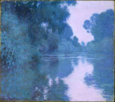 thehoruseye:  Claude Monet. Morning on the Seine, near Giverny. 1897.