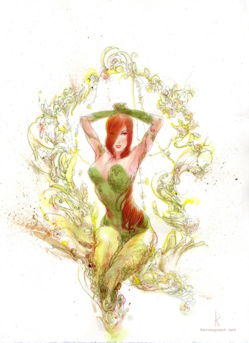 Poison Ivy // artwork by Keron Grant (2012)