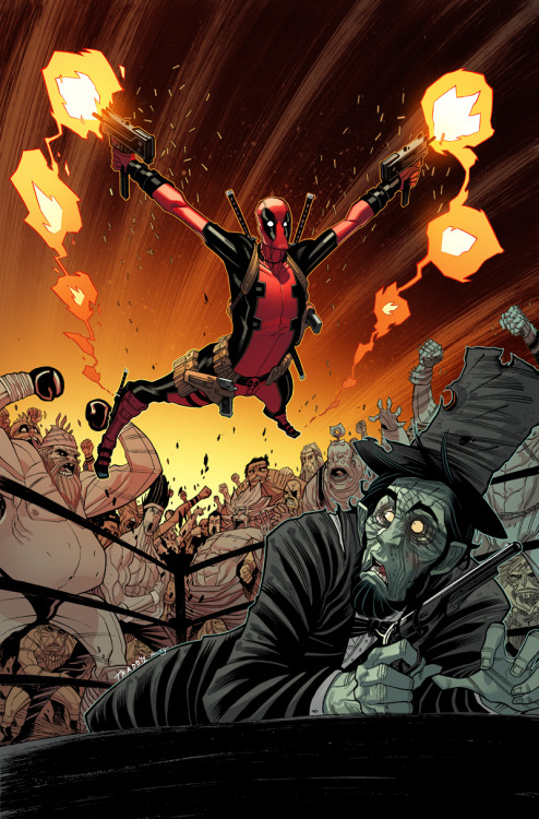 Deadpool // artwork by Tradd Moore and Marte Gracia (2012) Cover art for Marvel NOW!: Deadpool #4.