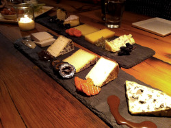 The amazing cheese slates at Murray's Cheese Bar