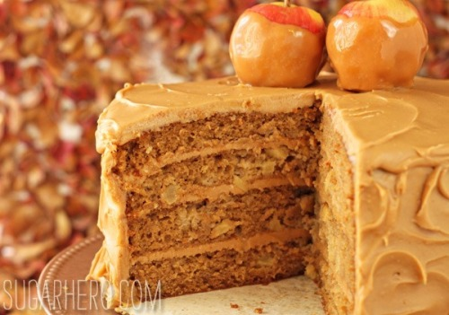 gastrogirl:  caramel apple cake with salted caramel buttercream.