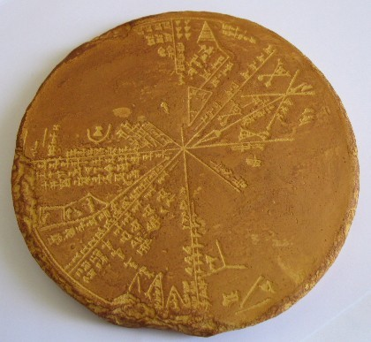 photonasty:  Sumerian star chart, c. 3300 B.C.  I thought this was a cake.