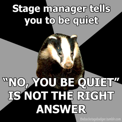 thebackstagebadger:  Submitted by esilesonia Official Backstage Badger Shirt Information Here!
