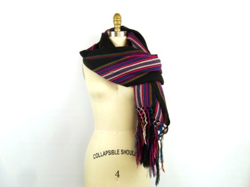 Vintage Long Woven Ethnic Scarf from southernerinayankeekitchen via (copious)