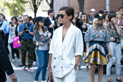 liamsawthis:  Miroslava Duma - On The Street by Liam Goslett / Bergdorf Goodman