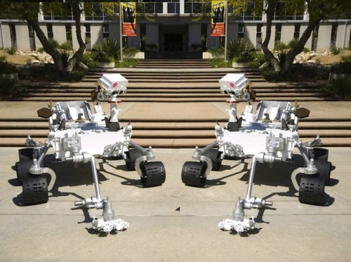 wired:  NASA's Curiosity rover is getting a younger brother! A new robotic probe made mostly out of Curiosity's spare parts and systems will be launched to Mars in 2020 and begin exploring the planet. SO. ADORBS.