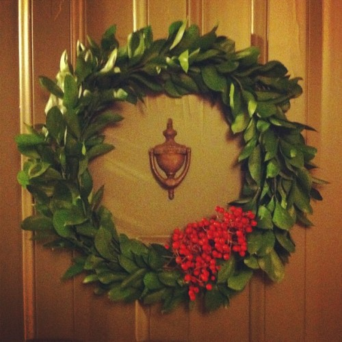 homemade wreath!