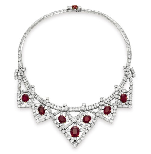 Elizabeth Taylor's ruby and diamond Cartier necklace