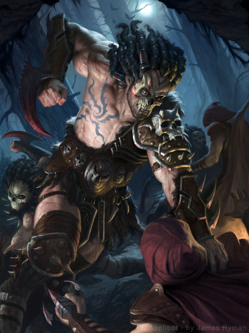 tintasdeluna:  Ghoulish Barbarian by ~namesjames