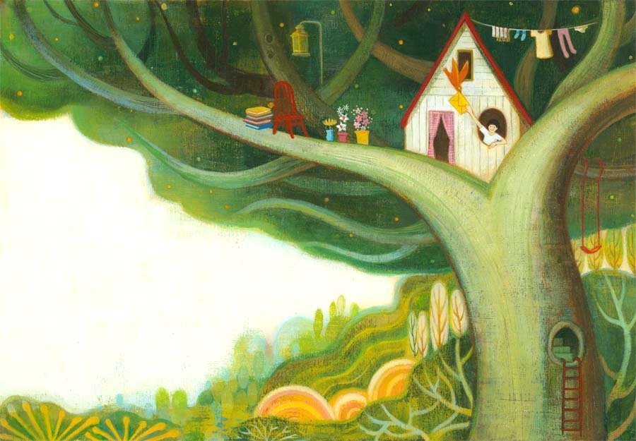 carnetimaginaire:  Em Jung, Treehouse living