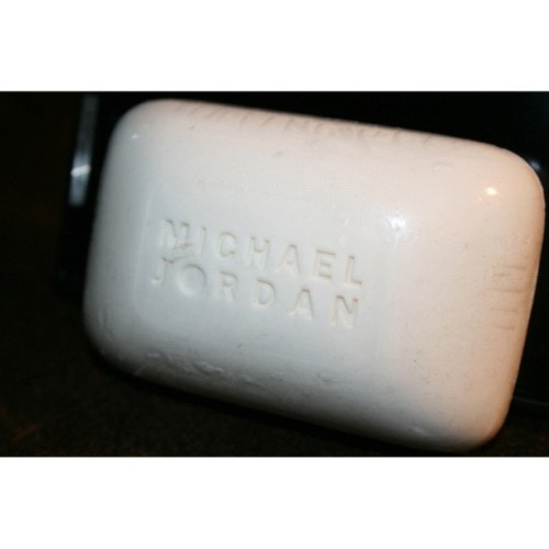 bought Michael Jordan brand soap from a flea market (presumably from the cologne box). Ill use it in the shower tonight in the hopes that I'll be as rich as he is and can play basketball just as well when i wake up tomorrow. #soap #michaeljordan #basketball  #squaready