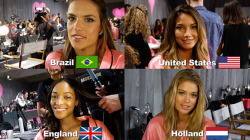 I truly love the fact that Victoria's Secret models are so diverse. That's why it kills me when people see light skin and automatically assume white American's.  They are all gorgeous super models no matter what.