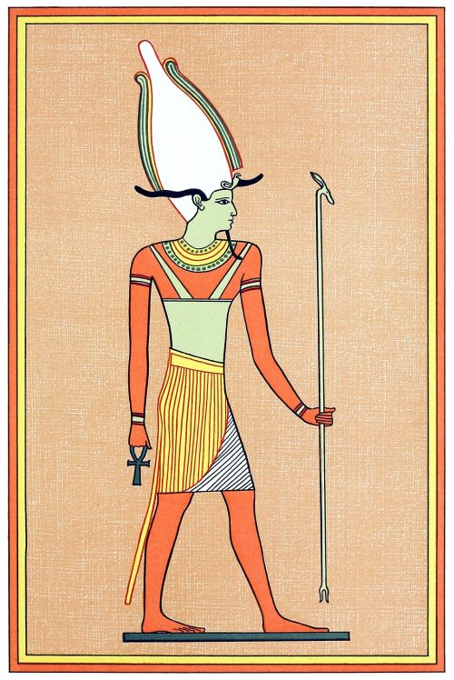 Osiris - Unnefer.  From The gods of the Egyptians vol. 2, by E. A. Wallis Budge, Chicago, 1904.  (Source: archive.org)