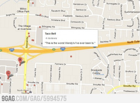 9gag:  I was searching for someplace to eat, when suddenly…
