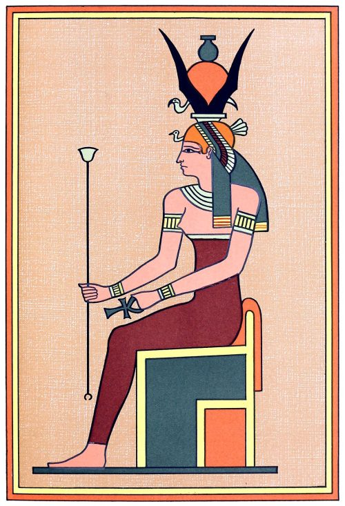 Nut, the mother of the gods.  From The gods of the Egyptians vol. 2, by E. A. Wallis Budge, Chicago, 1904.  (Source: archive.org)