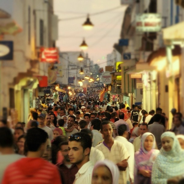 Dusk in Rabat's old city souk #peacecorps #morocco #latergram
