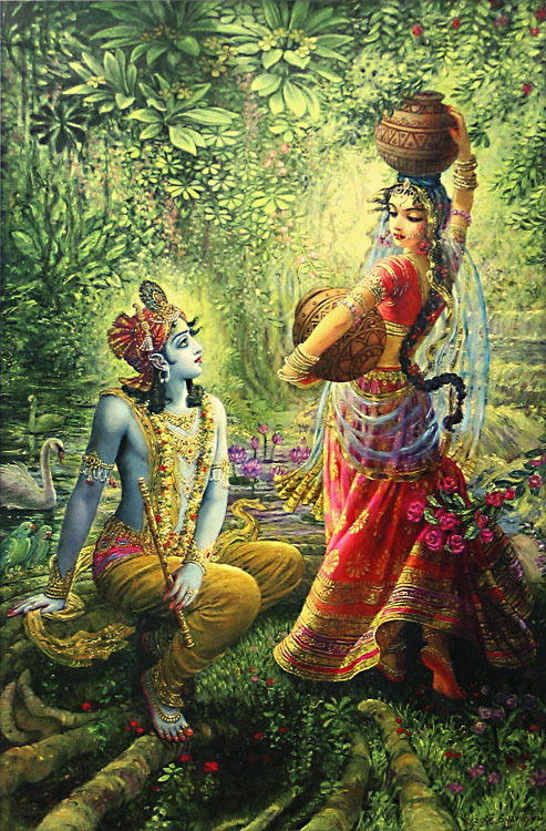 OMG I am so in love with this picture <3 Radha and Krishna