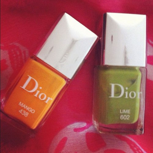 My new limited edition Dior resort nailpolish, if ur in London it's exclusively at harrods XXX, #dior #resort #nail #nails #nailpolish #ss13 #trends #limitededtion #beauty #neon #mcqueen #scarf #fashion #style #lotd #london #uk #shopping