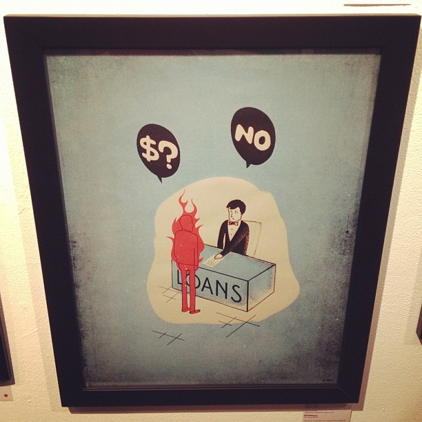 The Human Torch Was Denied A Bank Loan. #gallery1988 #la #art #anchorman