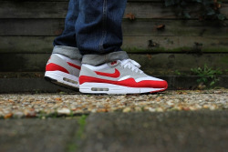 sweetsoles:  Nike Air Max 1 Retro Red (by ymor80)