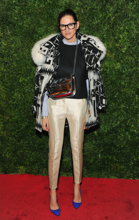 fashionbygettyimages:  J. Crew creative director Jenna Lyons attends HBO's In Vogue: The Editor's Eye screening at Metropolitan Museum of Art in New York. Source: gettyimages.com