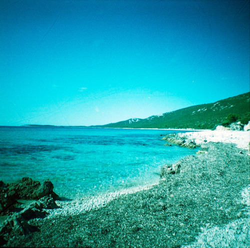 revolog:  Our favorite beach in Dugi Otok, September 15th 2012 - Streak film in Diana Mini