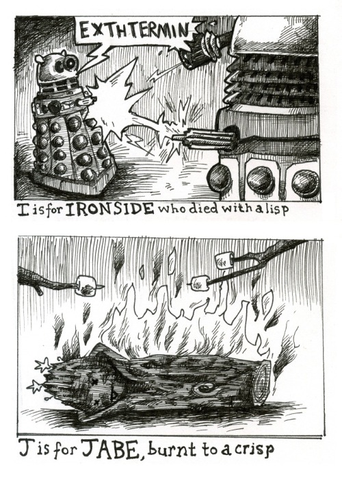 Letters I and J on Doctor Kawaii's Gallifreycrumb Tinies series! http://doctorkawaii.com/comic/gallifreycrumb-tinies-p-5/