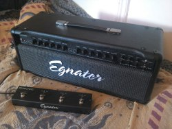 Finally got my new amp today, looking forward to hearing how it sounds in band practice tomorrow. Egnater Renegade 65 watt all valve head Independant heavy and clean channels with volume, gain, 3 band EQ Tight/ Deep & Bright/ Normal switches for each channel 18w/65w selector Tube mix blends 6L6 & EL34 power valves (1 each for both channels) Presence and Density Individual reverb for each channel Buffered effects loop And more…  Well priced, simple, incredibly versatile. Can't wait to get this in the studio.